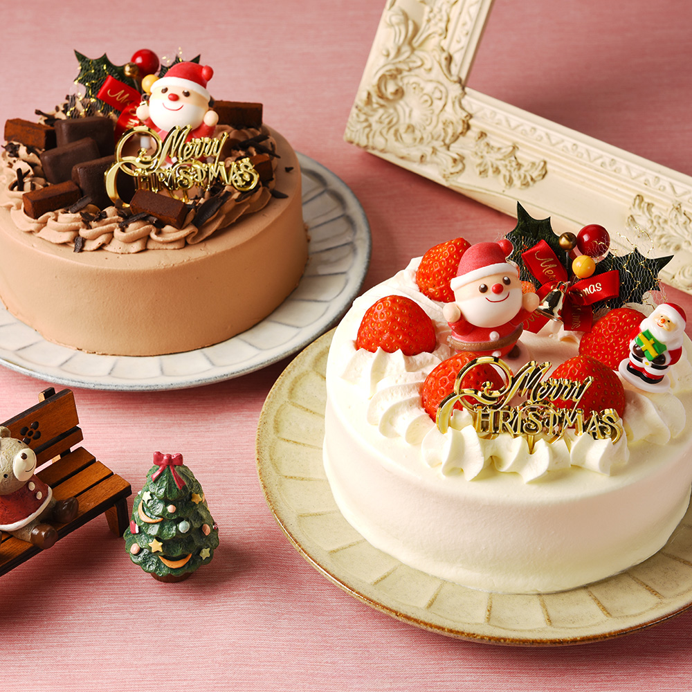 【店舗受取予約】生クリーム・生チョコクリームケーキ【2018クリスマス予約】